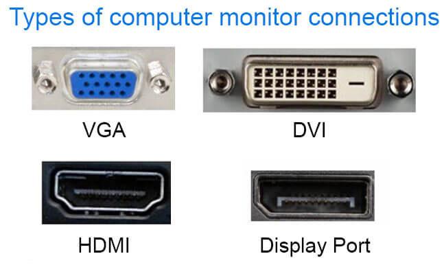انواع اتصالات مانیتور