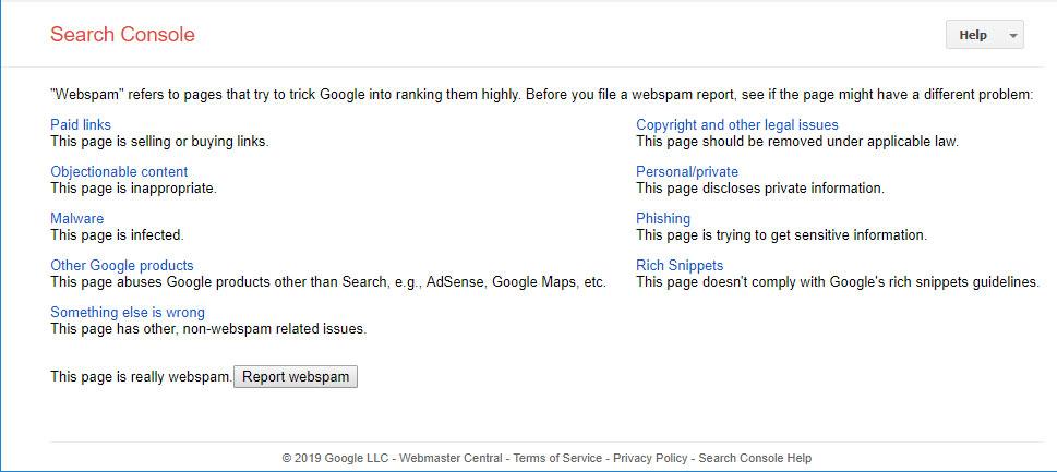 نحوه ریپورت کردن سایت های اسپم درگوگل