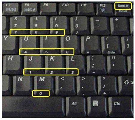 بهم ریختن کیبورد لپ تاپ | کلید NUM LK
