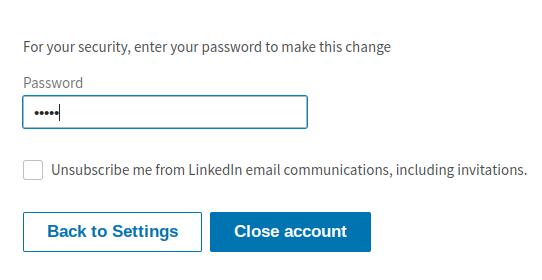 حذف اکانت لینکدین ، Delete Account LinkedIn