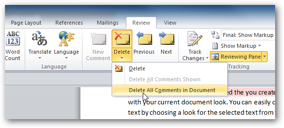ایجاد ویرایش و حذف کامنت در ورد